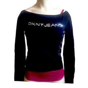 NWT DKNY JEANS Cami & Long Sleeve Top